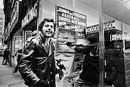 Manhattan, New York City, USA. January 1971. French Singer Joe Dassin in Times Square, New York.