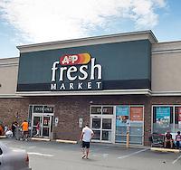 An A&P supermarket in Hoboken, NJ on Saturday, July 21, 2012. (© Richard B. Levine)
