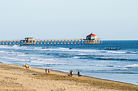 Visitors on the Beach in Huntington Beach California