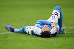 Jose Callejon of Napoli lays injured during the Coppa Italia match at Giuseppe Meazza, Milan. Picture date: 12th February 2020. Picture credit should read: Jonathan Moscrop/Sportimage