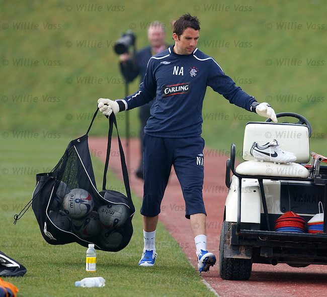 Neil Alexander gets ready for training