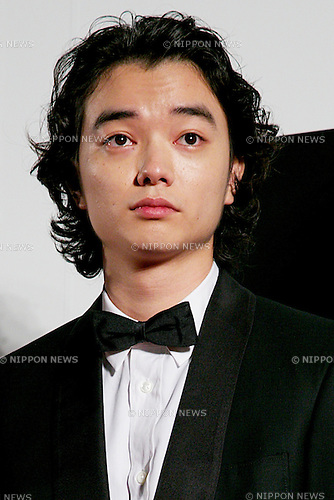 "Shota Sometani, Oct 23, 2014 : Tokyo, Japan: Actor of the movie ""PARASYTE"" Shota Sometani poses for the cameras at the 27th Tokyo International Film Festival, Opening Event Red Carpet at Roppongi Hills Arena in Tokyo, Japan, October 23, 2014.  The Film Festival will run through until Friday 31. (Photo by Rodrigo Reyes Marin/AFLO)"