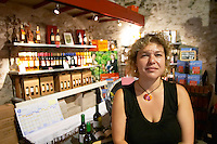 Laetitia Pietri-Geraud Domaine Pietri-Geraud Roussillon. The wine shop and tasting room. Owner winemaker. France. Europe.