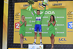 Marcel Kittel (GER) Quick-Step Floors retains the race leaders Yellow Jersey at the end of Stage 3 of the 104th edition of the Tour de France 2017, running 212.5km from Verviers, Belgium to Longwy, France. 3rd July 2017.<br /> Picture: Eoin Clarke | Cyclefile<br /> <br /> All photos usage must carry mandatory copyright credit (&copy; Cyclefile | Eoin Clarke)