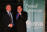 Kevin O'Connor (president and CEO of Bridgehampton National Bank) and Dale Badway (host)  - The 29th Annual Jane Elissa Extravaganza which benefits The Jane Elissa Charitable Fund for Leukemia & Lymphoma Cancer, Broadway Cares and other charities on November 14, 2016 at the New York Marriott Hotel, New York City presented by Bridgehampton National Bank. (Photo by Sue Coflin/Max Photos)