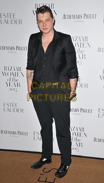 John Newman attends the Harper's Bazaar Women of the Year Awards 2015, Claridge's Hotel, Brook Street, London, England, UK, on Tuesday 03 November 2015. <br /> CAP/CAN<br /> &copy;CAN/Capital Pictures