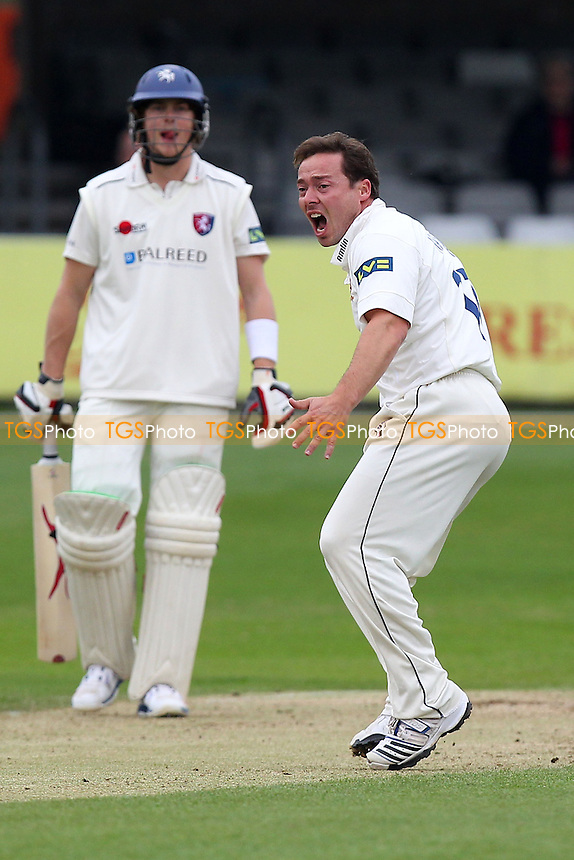 Grsham Napier of Essex appeals for a wicket - Essex CCC vs Kent CCC - Pre-Season Friendly Cricket Match at the Essex County Ground, Chelmsford - 04/04/14 - MANDATORY CREDIT: Gavin Ellis/TGSPHOTO - Self billing applies where appropriate - 0845 094 6026 - contact@tgsphoto.co.uk - NO UNPAID USE