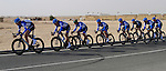 Garmin-Cervelo team in action during the 2nd Stage of the 2012 Tour of Qatar a team time trial at Lusail Circuit, Doha, Qatar, 6th February 2012 (Photo Eoin Clarke/Newsfile)