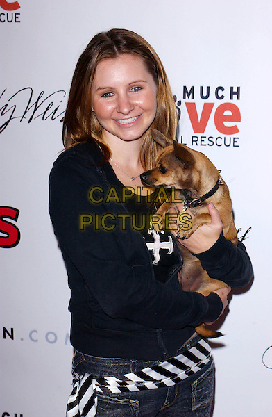 BEVERLEY MITCHELL & HER DOG CHICO.The 1st Annual US Weekly Hollywood Holiday Shopping Party hosted by US Weekly Magazine and Tori Spelling at Smashbox Studios..November 11th, 2004.half length, animal, pet.www.capitalpictures.com.sales@capitalpictures.com.© Capital Pictures.