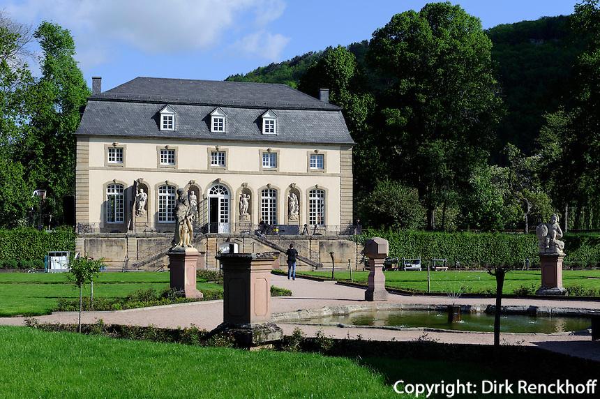 Orangerie und Klostergarten in Echternach, Luxemburg