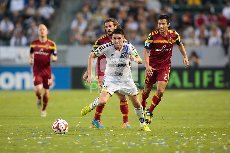 Carson, California - Sunday, November 9, 2014: The LA Galaxy defeated Real Salt Lake 5-0 in a Major League Soccer (MLS) playoff match at StubHub Center stadium.