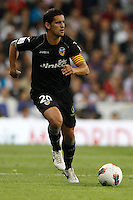 08.04.2012 SPAIN -  La Liga matchday 32th  match played between Real Madrid CF vs Valencia (0-0) and falls to 4 points behind Barcelona, at Santiago Bernabeu stadium. The picture show Ricardo Miguel Moreira da Costa (Defender of Valencia)