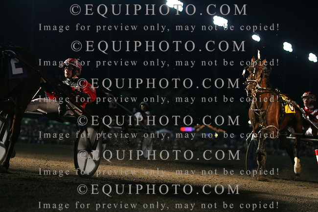 Standardbred action at the Meadowlands Racetrack in East Rutherford, N.J.