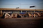 A homeless encampment in Fresno, Calif., September 20, 2012.