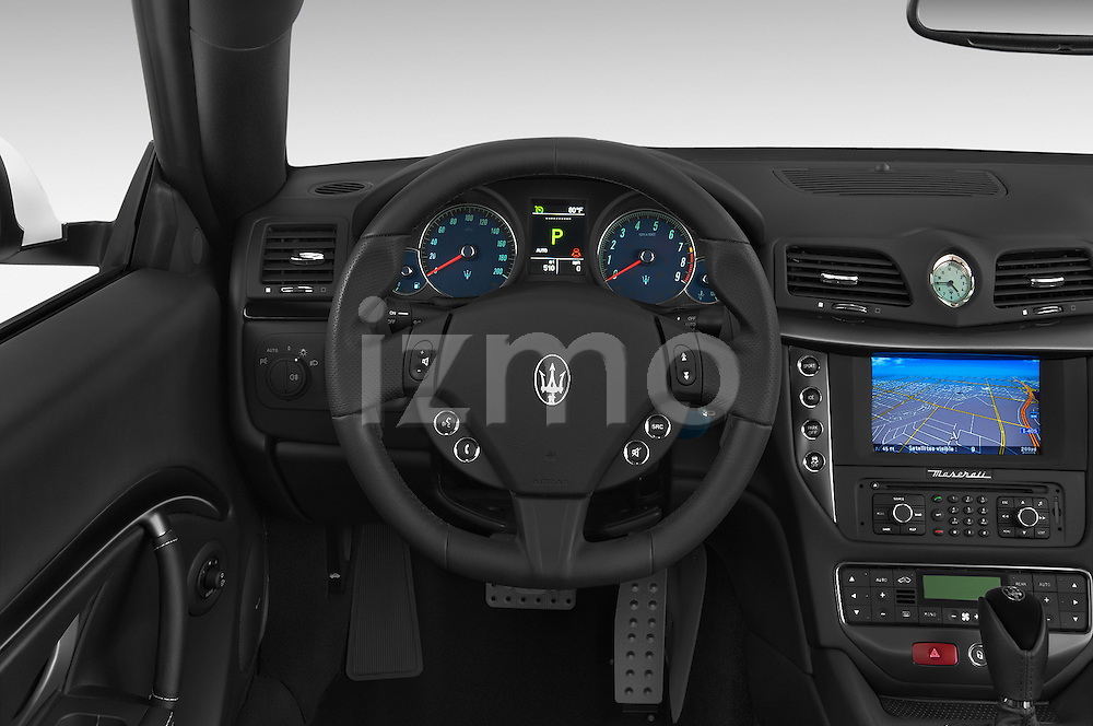 Car pictures of steering wheel view of a 2017 Maserati GranTurismo Convertible Sport Door convertible Steering Wheel
