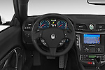 Car pictures of steering wheel view of a 2014 Maserati GranTurismo Convertible Sport Door convertible Steering Wheel