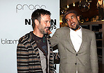 NEW YORK - SEPTEMBER 12:  (l-r)David Arquette and Ben Harper promote Propr at Bloomingdale's on September 12, 2009 in New York City.  (Photo by Donald Bowers)