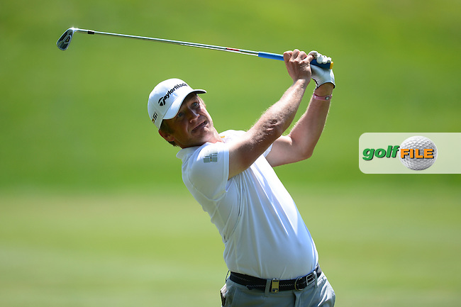 Pelle Edberg of Sweden during Round 2 of the Lyoness Open, Diamond Country Club, Atzenbrugg, Austria. 10/06/2016<br /> Picture: Richard Martin-Roberts / Golffile<br /> <br /> All photos usage must carry mandatory copyright credit (&copy; Golffile | Richard Martin- Roberts)