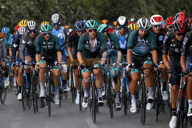 The peloton including Lukas Postlberger (AUT), Peter Sagan (SVK) and Gregor Muhlberger (AUT) Bora-Hansgrohe during Stage 3 of Tour de France 2020, running 198km from Nice to Sisteron, France. 31st August 2020.<br /> Picture: Bora-Hansgrohe/BettiniPhoto   Cyclefile<br /> All photos usage must carry mandatory copyright credit (© Cyclefile   Bora-Hansgrohe/BettiniPhoto)