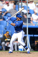 Toronto Blue Jays outfielder Kenny Wilson (71) during a spring training game against the Pittsburgh Pirates on February 28, 2014 at Florida Auto Exchange Stadium in Dunedin, Florida.  Toronto defeated Pittsburgh 4-2.  (Mike Janes/Four Seam Images)