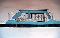 Paolo Soleri: ARCOSANTI elevation.  Photo '77.