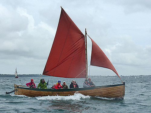 Classic re-creation of a Greencastle yawl – this is the Portrush-based community-built James Kelly