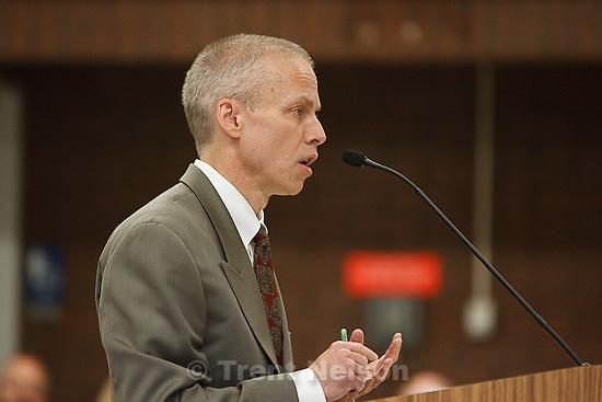Trent Nelson  |  The Salt Lake Tribune.Draper - Commutation hearing for death-row inmate Ronnie Lee Gardner Thursday, June 10, 2010, at the Utah State Prison. Utah Assistant Attorney General Tom Brunker
