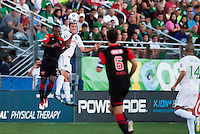 HEMPSTEAD, NY – AUGUST 24: The New York Cosmos host the San Antonio Scorpions in an NASL match on August 24, 2013 at Hofstra University's Shuart Stadium in Hempstead, New York.