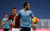 Calcio, Serie A: Roma vs Lazio. Roma, stadio Olimpico, 8 novembre 2015.<br /> Lazio's Santiago Gentiletti in action during the Italian Serie A football match between Roma and Lazio at Rome's Olympic stadium, 8 November 2015.<br /> UPDATE IMAGES PRESS/Isabella Bonotto