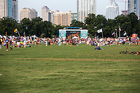 Children, favorite furry companions, and cold beer are all are welcome at Austin's Blues on the Green, a summertime concert series in Zilker Park, Austin, Texas.