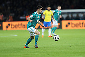 27th March 2018, Olympiastadion, Berlin, Germany; International Football Friendly, Germany versus Brazil; Lars Stindl  (Germany) in action