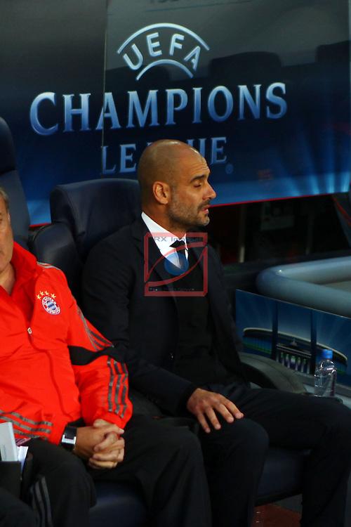 UEFA Champions League 2014/2015. <br /> Semi-finals 1st leg.<br /> FC Barcelona vs FC Bayern Munchen: 3-0.<br /> Pep Guardiola.