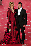 Antonio Banderas and Melanie Griffith pose at Goya Cinema Awards 2012 ceremony, at the Palacio Municipal de Congresos on February 19, 2012 in Madrid..Photo: Cesar Cebolla / ALFAQUI