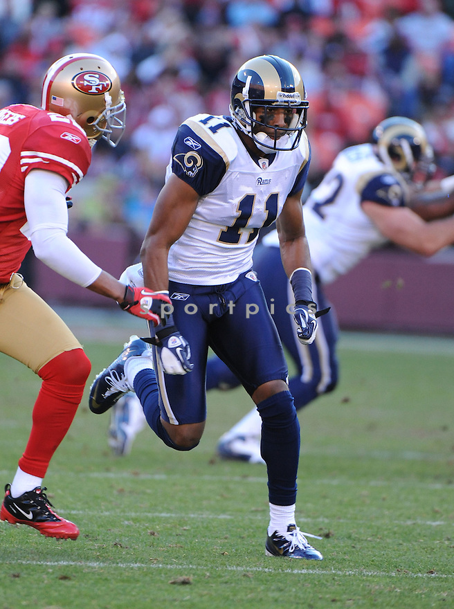 BRANDON GIBSON, of the St. Louis Rams, in action during the Rams game against the San Francisco 49ers on December 4, 2011 at Candlestick Park in San Francisco, CA. The 49ers beat the Rams 26-0.
