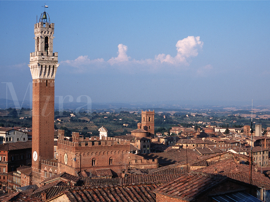 Overview of of the Siena, Italy skyline.