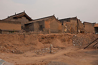 Daytime landscape view of a demolition and renovation area in the siheyuan lined hútòng in the old part of Píngyáo Shì in the Jìnzhōng district in Shānxī Province, China  © LAN