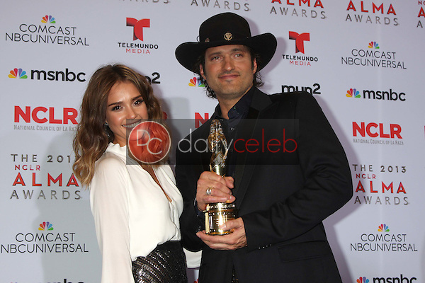 Jessica Alba, Robert Rodriguez<br /> at the 2013 NCLR ALMA Awards Press Room, Pasadena Civic Auditorium, Pasadena, CA 09-27-13<br /> David Edwards/Dailyceleb.com 818-249-4998