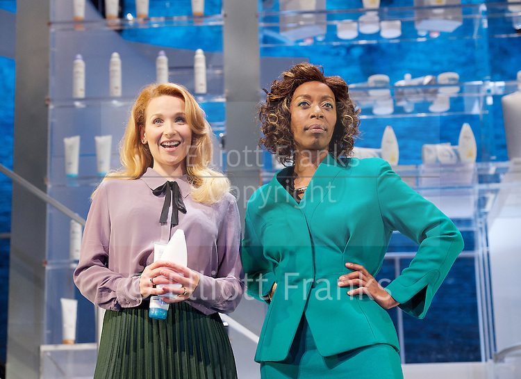 Linda <br /> by Penelope Skinner <br /> directed by Michael Longhurst <br /> at The Royal Court Theatre, London, Great Britain <br /> 30th November 2015 <br /> <br /> Amy-Beth Hayes as Amy <br /> Nova Dumezweni as Linda <br /> <br /> Photograph by Elliott Franks <br /> Image licensed to Elliott Franks Photography Services