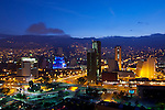 Modern high rises of Medellin, Colombia at dawn.