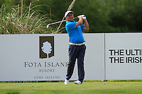Damien McGrane (IRL) on the 11th tee during Round 2 of the Irish Open at Fota Island on Friday 20th June 2014.<br /> Picture:  Thos Caffrey / www.golffile.ie