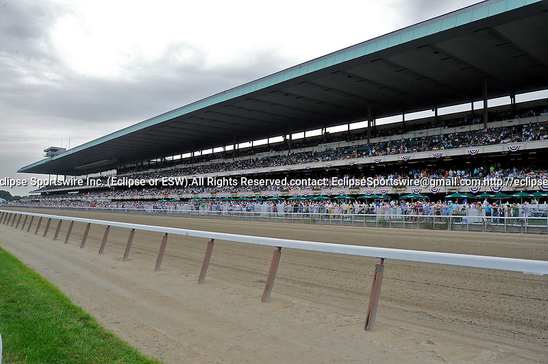 Scenes from around the track on Belmont Stakes Day on June 09, 2012 at Belmont Park in Elmont, New York.  (Bob Mayberger/Eclipse Sportswire)