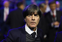 Bundestrainer Joachim Loew (Deutschland Germany) entsetzt nach der Auslosung - 30.11.2019: UEFA EURO2020 Auslosung, Romexpo Bukarest, DISCLAIMER: UEFA regulations prohibit any use of photographs as image sequences and/or quasi-video.