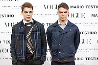 Raul Guerra and Hayden Guerra at Vogue December Issue Mario Testino Party