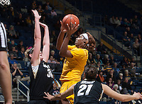 Berkeley, CA - January 5, 2015: California Golden Bears' 75-59 victory against Colorado Buffaloes during NCAA Women's Basketball game at Haas Pavilion.