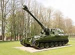 British AS-90 SP self propelled gunship tank, Royal Regiment of Artillery, Larkhill, Wiltshire, England, UK