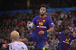 VELUX EHF 2017/18 EHF Men's Champions League Group Phase - Round 11.<br /> FC Barcelona Lassa vs HC Vardar: 29-28.<br /> Timothey N'Guessan.