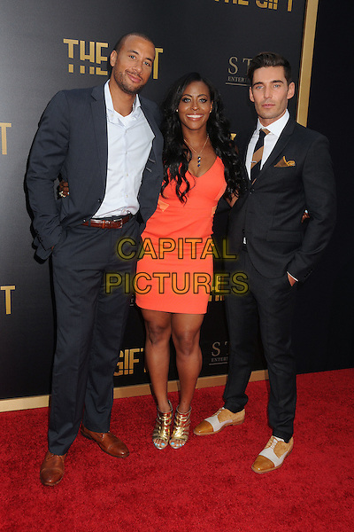 30 July 2015 - Los Angeles, California - Aaron Hines, Nichelle Hines, Nick Hounslow. &quot;The Gift&quot; Los Angeles Premiere held at Regal Cinemas LA Live.  <br /> CAP/ADM/BP<br /> &copy;Byron Purvis/AdMedia/Capital Pictures