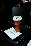 Bongo drum reserved for Dr. Dieter Zetsche, Chairman of the Board of Management and  Head of the Mercedes Car Group for DaimlerChrysler, at the North American International Auto Show, 2007