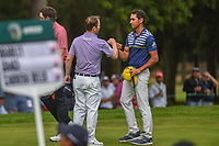 Rafael Cabrera Bello (ESP) shakes hands with Brandon Grace (RSA) following round 4 of the World Golf Championships, Mexico, Club De Golf Chapultepec, Mexico City, Mexico. 2/24/2019.<br /> Picture: Golffile | Ken Murray<br /> <br /> <br /> All photo usage must carry mandatory copyright credit (© Golffile | Ken Murray)
