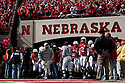 17 October 2009: Nebraska Head Coach Bo Pelini leads the Husker on the field against Texas Tech at Memorial Stadium, Lincoln, Nebraska. Texas Tech defeats Nebraska 31 to 10.
